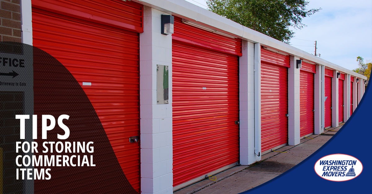Top Tips for Storing Commercial Items